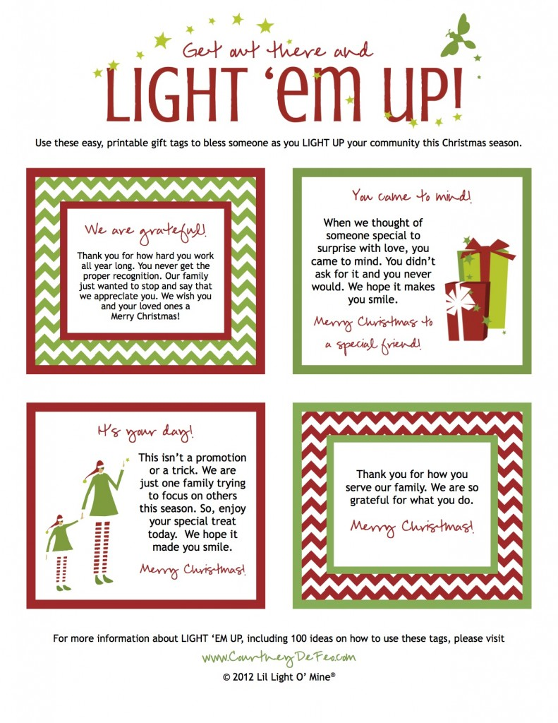 Light Em Up Gift Tags 2013