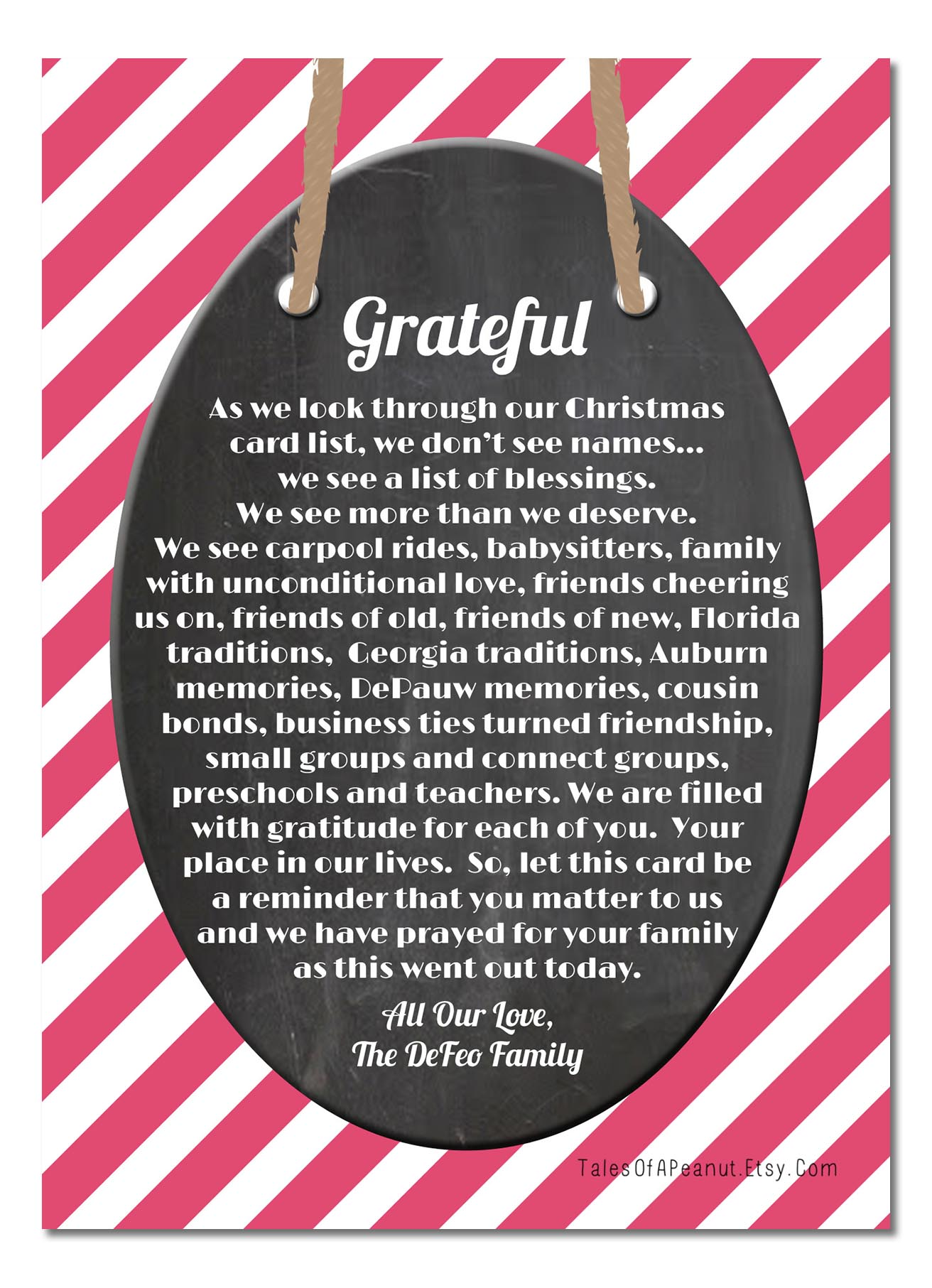Our Christmas Greeting Courtney Defeo