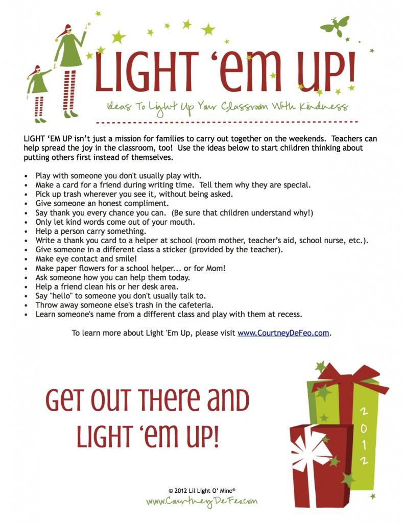 Light Em Up Classroom Ideas 2013-1