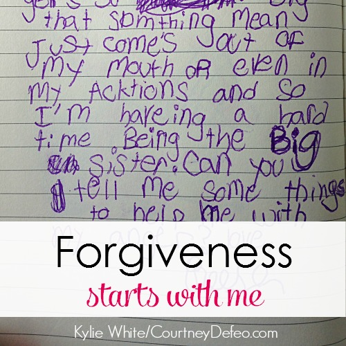 Forgiveness Starts With Me