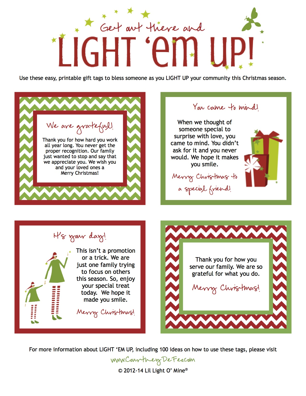 Light Em Up Gift Tags 2014