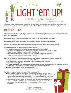 Light Em Up Planning Doc 2014