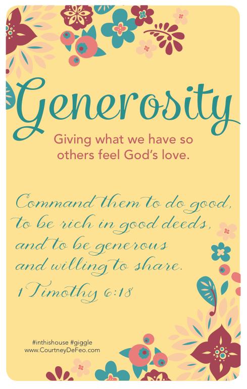 Month of Generosity – No More Verucas!